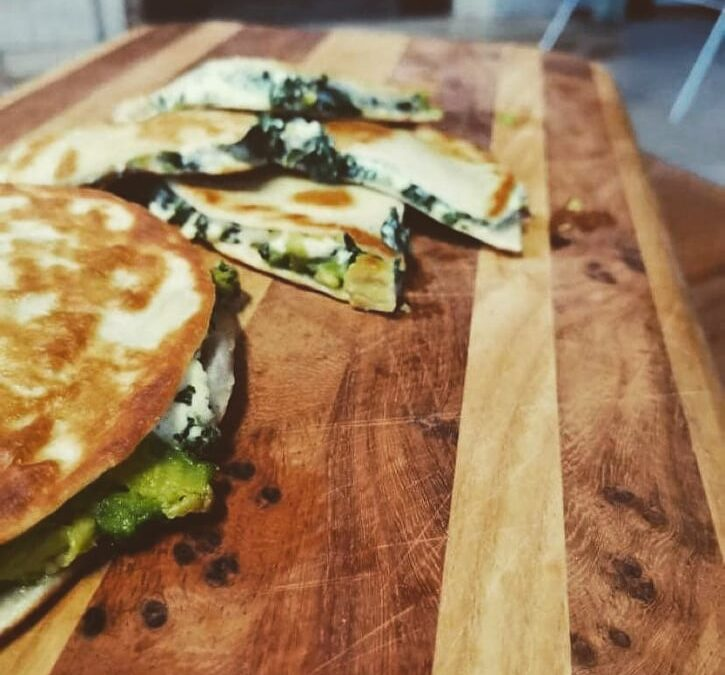 Toasted Tortillas filled with Ricotta