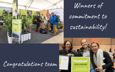 Commitment to Sustainability Award for 2021 Fieldays