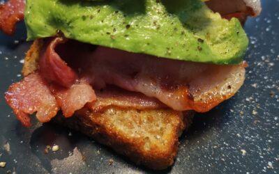 Bacon, Avocado & Halloumi Stack