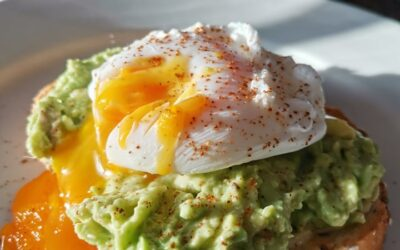 Poached Eggs With Smashed Avo