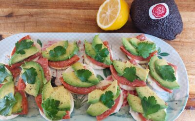 Avocado Canapes for Lockdown Drinks