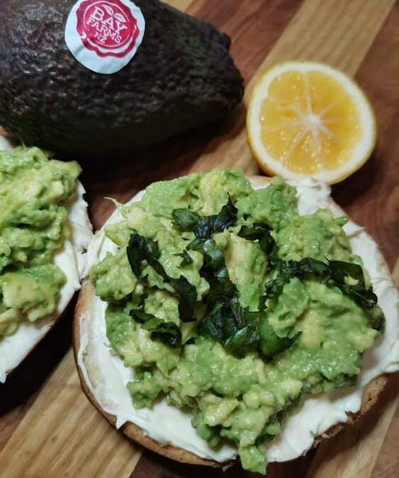 Toasted Bagel with Avocado & Cream Cheese