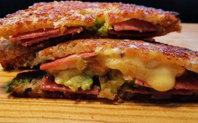 Salami, Avocado & Brie Toasted Sandwich