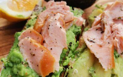 Smoked Salmon with Avocado on Toasted Sourdough
